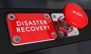 red disaster recovery button