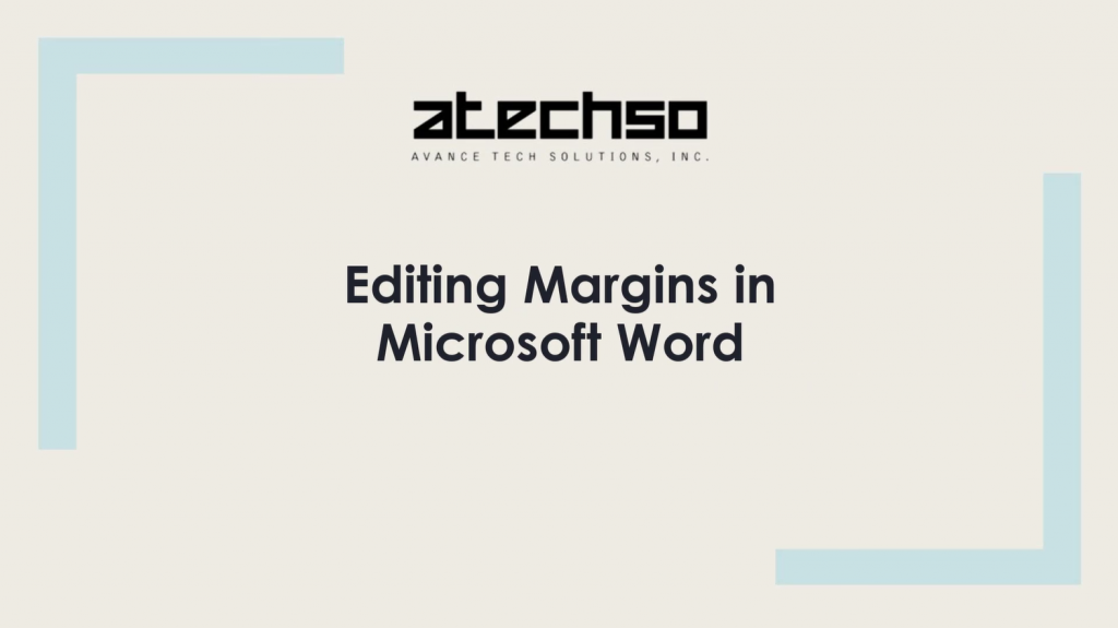 Editing Margins in Microsoft Word – Microsoft Word