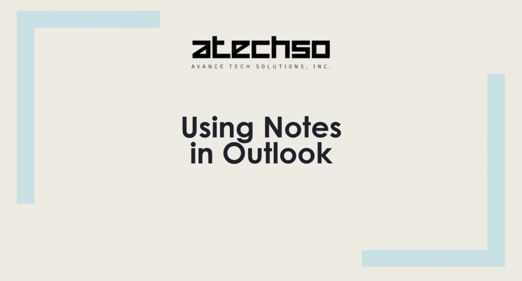 Using Notes in Outlook – Microsoft Outlook