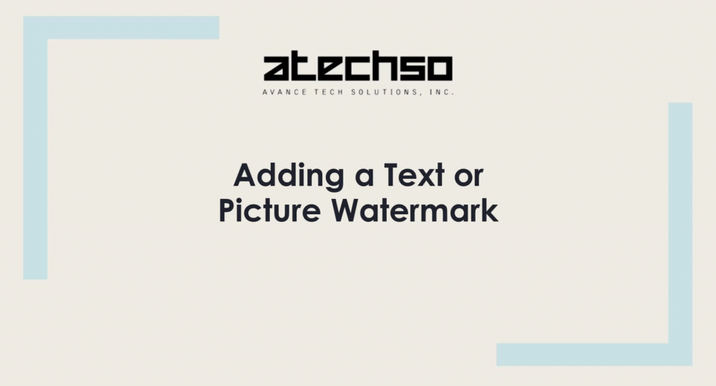 Adding a Text or Picture Watermark – Microsoft Word