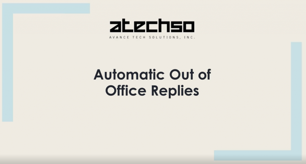 Automatic Out of Office Replies