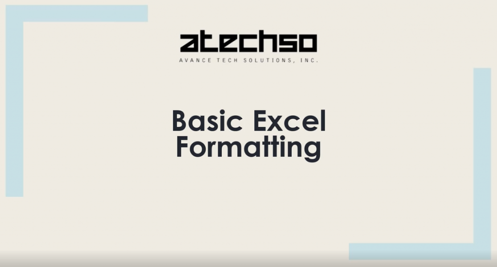 Basic Excel Formatting