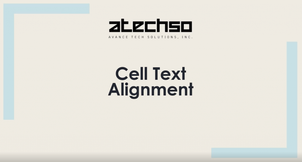 Cell Alignment