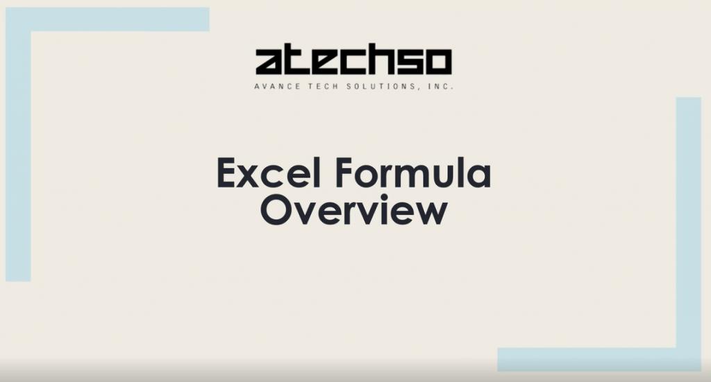Excel Formula Overview