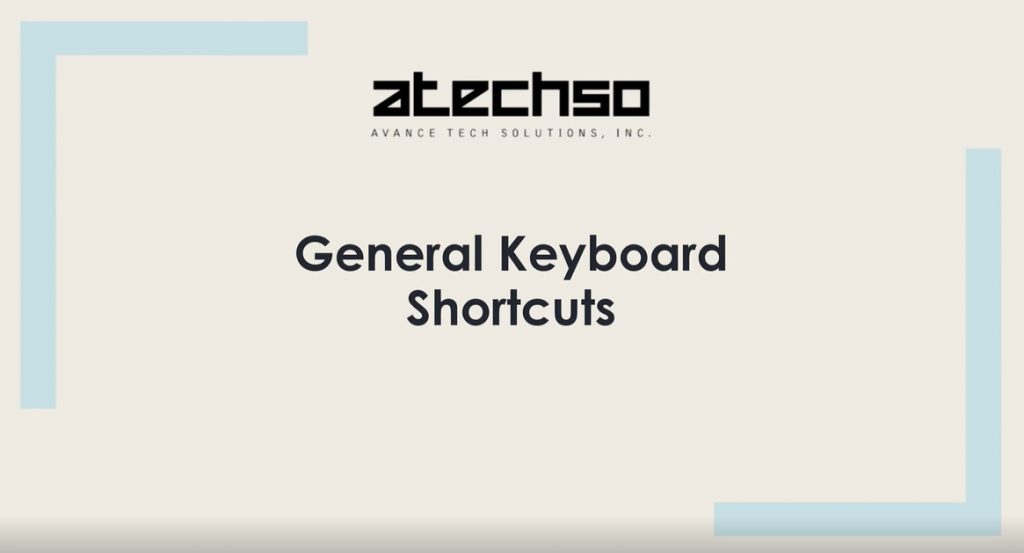 Windows General Keyboard Shortcuts