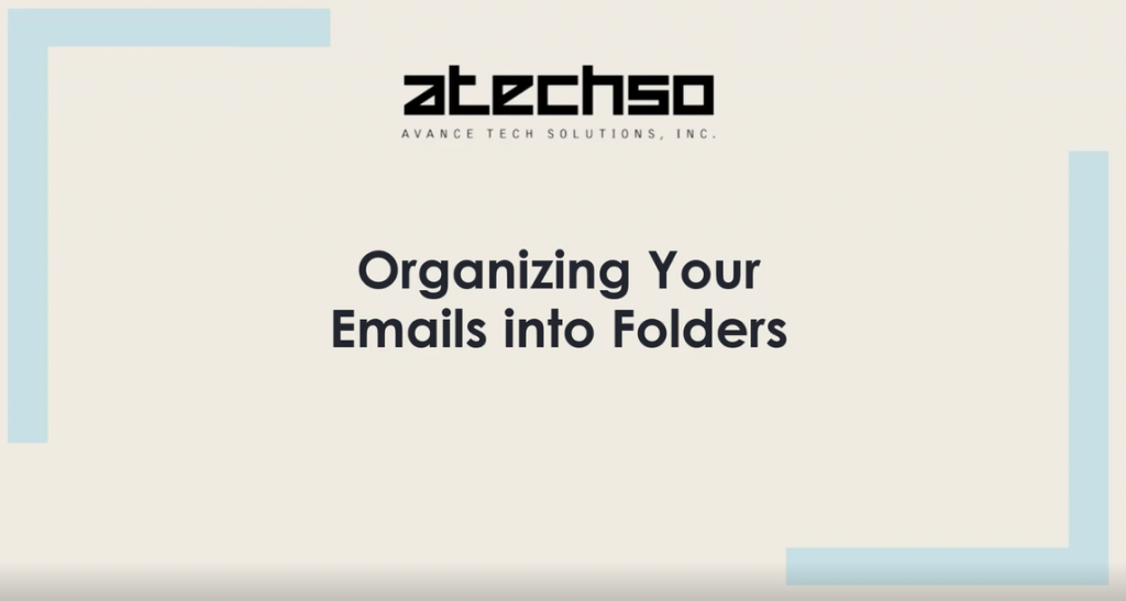 Organize Emails Into Folders
